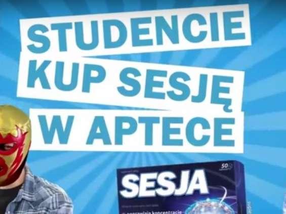 Aflofarm wspiera reklamowo suplementy diety pod marką Sesja