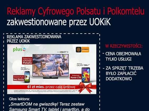 Kary za nieuczciwe reklamy dla Cyfrowego Polsatu i Polkomtela