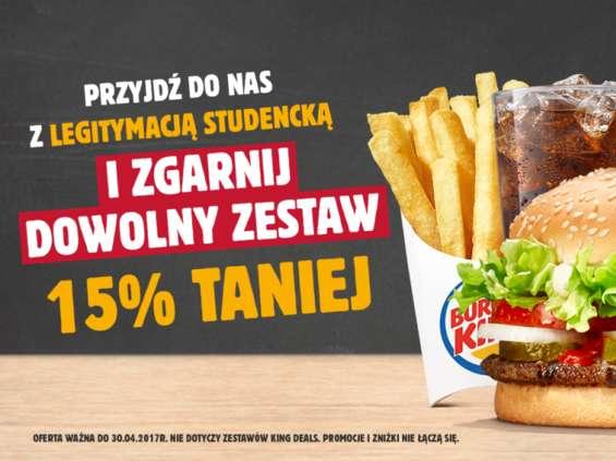 Burger King debiutuje na nośnikach TV Student