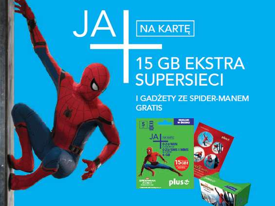 Spider-Man promuje Plusa