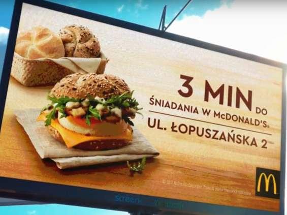 McDonald's odliczał czas do śniadania w kampanii DOOH