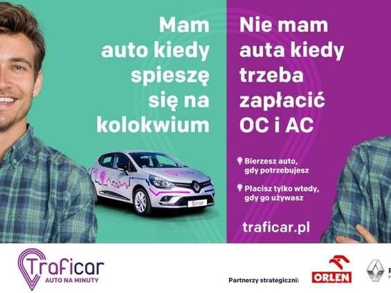 Auto na minuty z kampanią w Warszawie