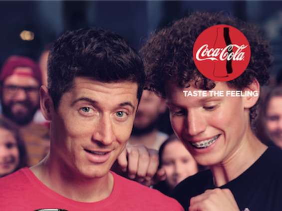 Robert Lewandowski w kampanii Coca-Cola Zero Cukru