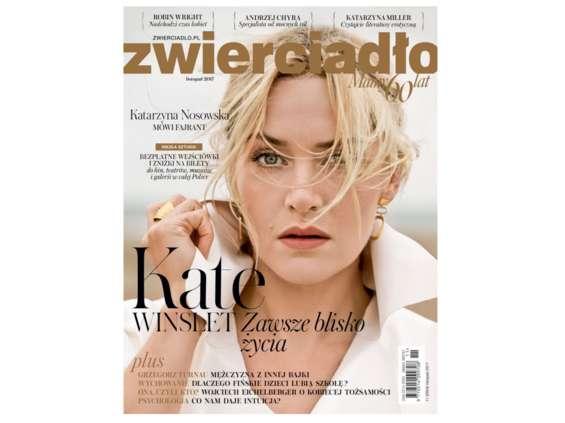 """Listopadowe wydanie miesięcznika """"Zwierciadło"""" z akcją """"Niezła sztuka!"""" Już w sprzedaży, na okładce Kate Winslet"""