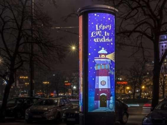 Nowe warszawskie słupy reklamowe Warexpo