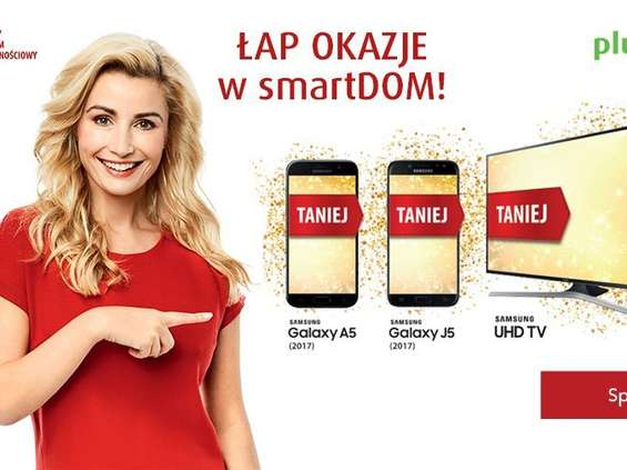 Plus reklamuje smartfony i telewizory Samsunga