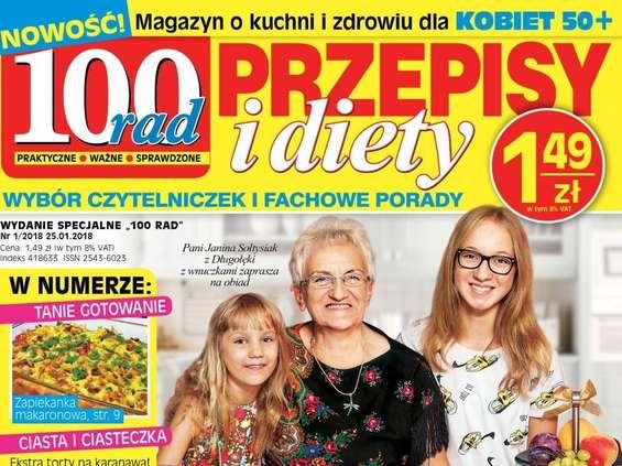 """""""100 Rad. Przepisy i Diety"""" - nowy miesięcznik Bauera"""