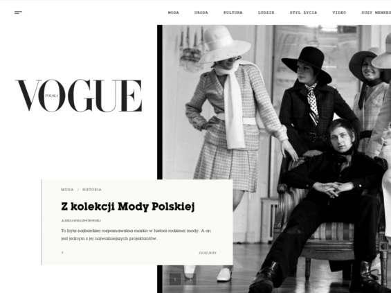"""Polski """"Vogue"""" ma już wydanie internetowe"""