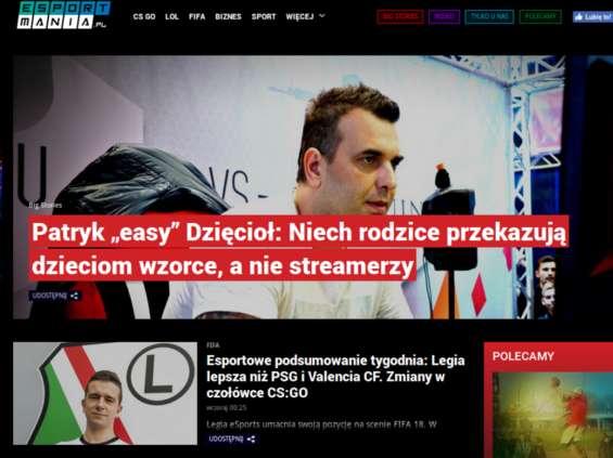 Grupa Onet-RAS Polska uruchamia serwis o e-sporcie