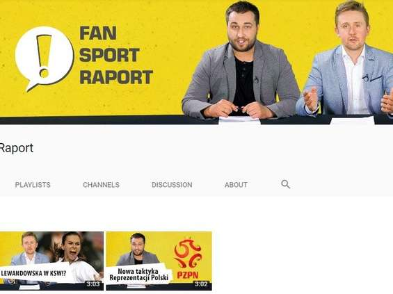 Na YouTube ruszył kanał Fan Sport Raport