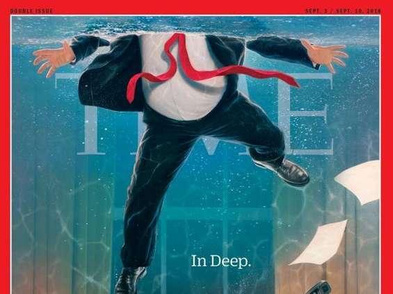 """Tonący Trump na okładce """"Time"""""""