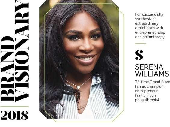 Serena Williams z tytułem Brand Visionary 2018