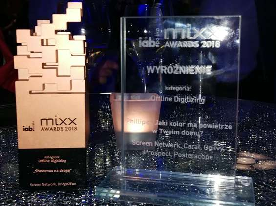 Screen Network nagrodzone podczas Mixx Awards 2018