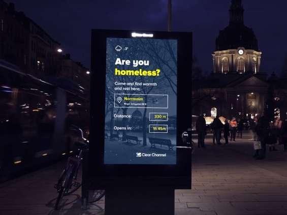 Clear Channel pomoże bezdomnym w Sztokholmie
