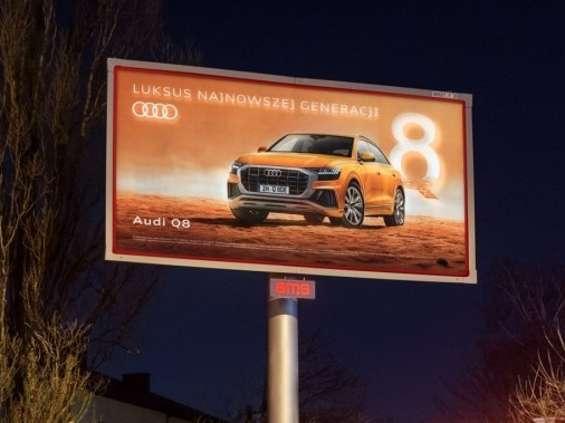 Kampania Audi na nośnikach AMS dynamic backlight