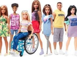 Barbie na wózku inwalidzkim i z protezą