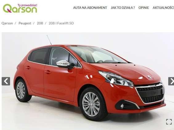 Qarson - rusza sprzedaż samochodów w abonamencie