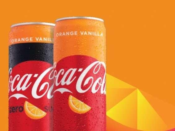 Coca-Cola o smaku wanilii i pomarańczy
