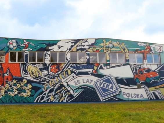 Mural na 25-lecie Veka Polska