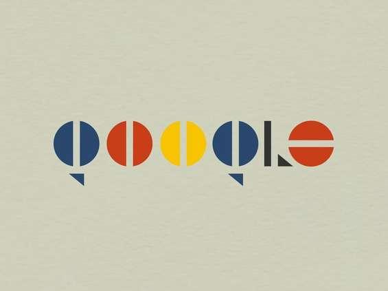Logotypy znanych marek w stylu Bauhausu