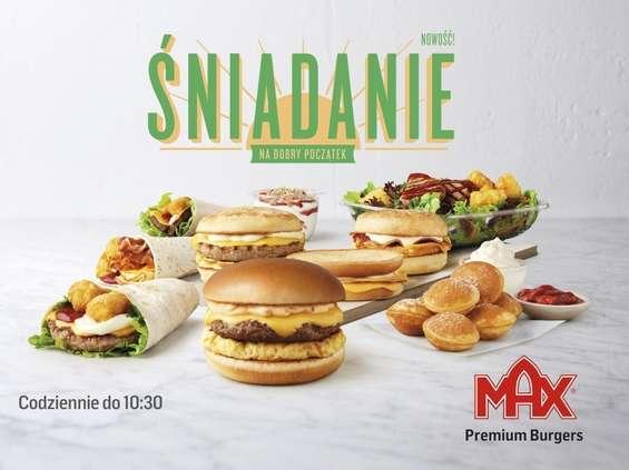 Max Premium Burgers rusza z ofertą śniadaniową