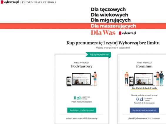 """""""Gazeta Wyborcza"""" ma więcej cyfrowych prenumerat niż """"New Yorker"""""""