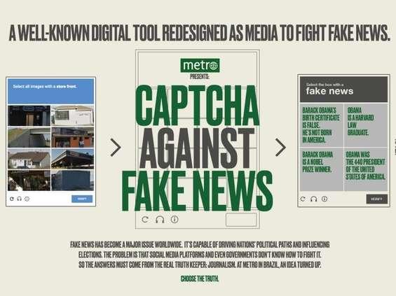 """""""Metro"""" w Brazylii wykorzystuje captcha do walki z fake news [wideo]"""