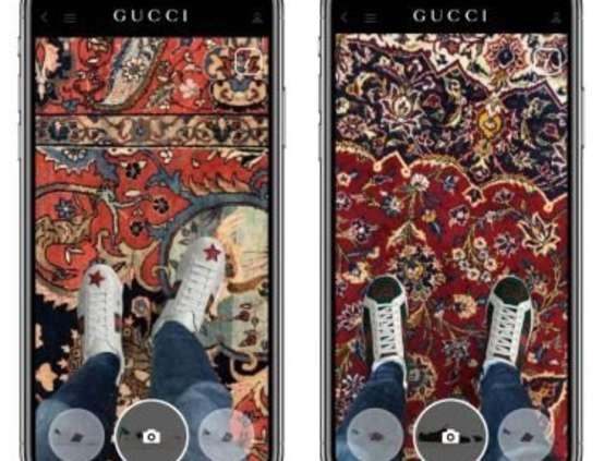 Aplikacja mobilna Gucci pozwala przymierzać buty