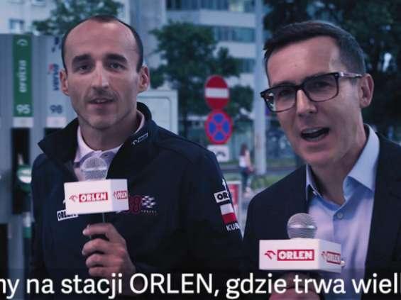 Maciej Kurzajewski z Robertem Kubicą w reklamie Orlenu [wideo]