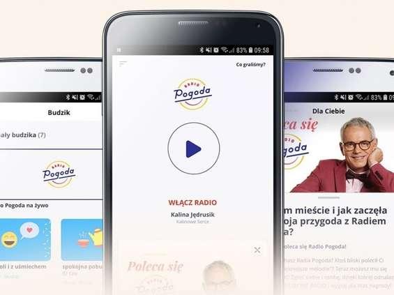 Radio Pogoda do słuchania w mobilnej aplikacji