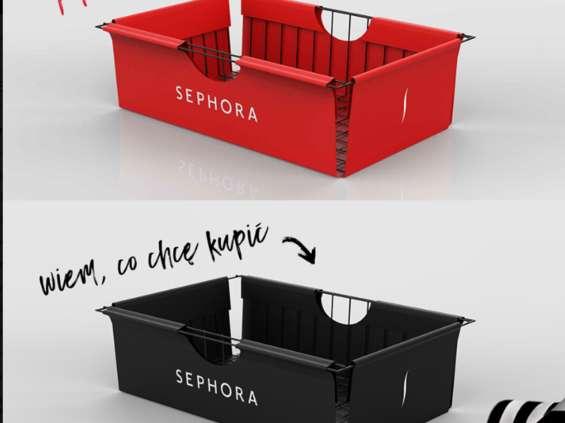 Sephora testuje dwa kolory koszyków