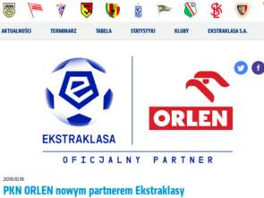 Orlen sponsorem Ekstraklasy