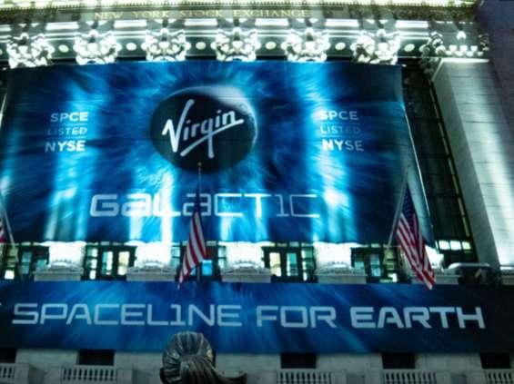 Virgin Galactic pierwszą spółką z branży turystyki kosmicznej notowaną na NYSE