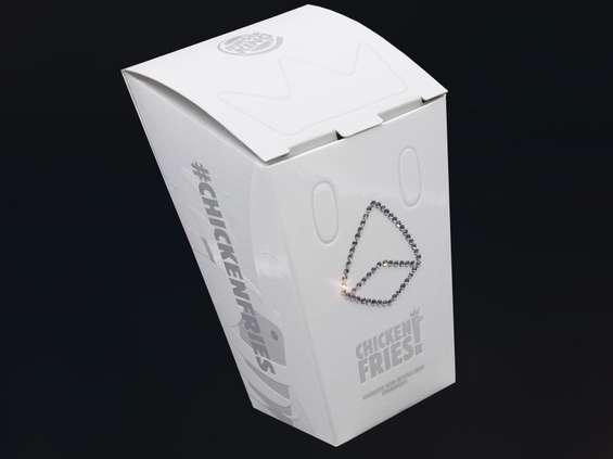 Limitowane pudełka Chicken Fries Burger King z kryształami Swarovskiego