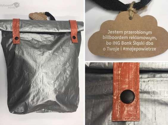 ING Bank Śląski przerobił ekoplakaty na plecaki
