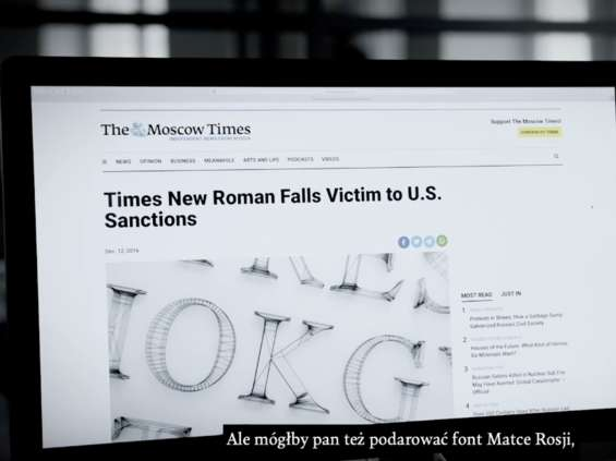 Capitalics zaprojektował font Times New Roman Abramovich [wideo]