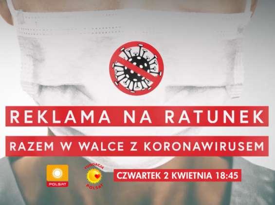 Specjalny blok reklamowy w Polsacie na rzecz walki z koronawirusem