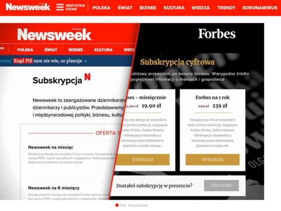 Rusza promocja subskrypcji Newsweek.pl i Forbes.pl