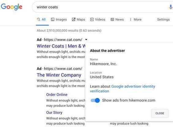 Google robi kolejny krok w stronę zwiększenia przejrzystości reklam