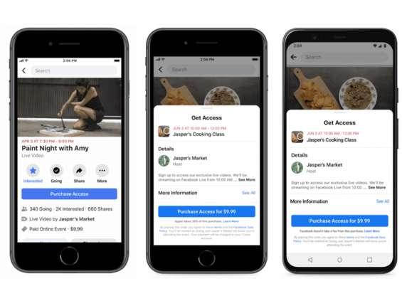 Facebook uruchamia płatne wydarzenia na żywo