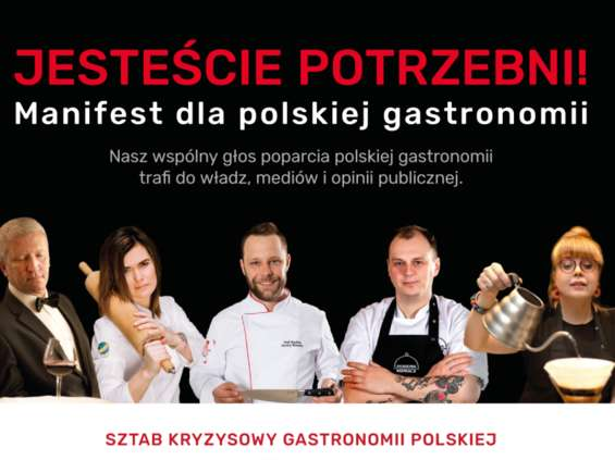 """""""Manifest dla gastronomii polskiej"""" głosem wsparcia dla branży"""