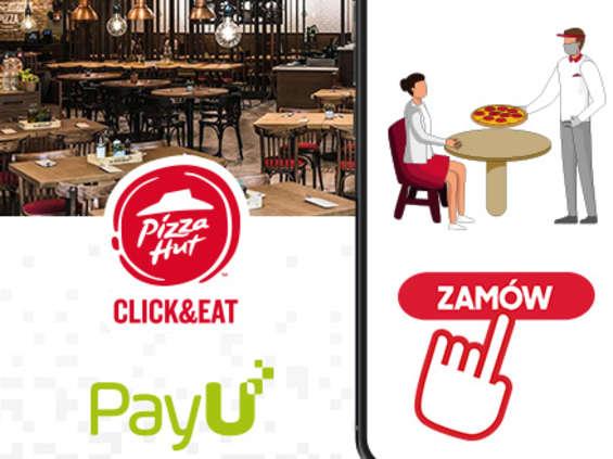"""Pizza Hut i PayU wprowadzają usługę """"Zamów online do stolika"""""""