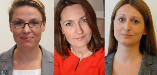 Od lewej:  dr K. Dziewanowska, Katarzyna Ładniak-Grońska i dr Agnieszka Kacprzak
