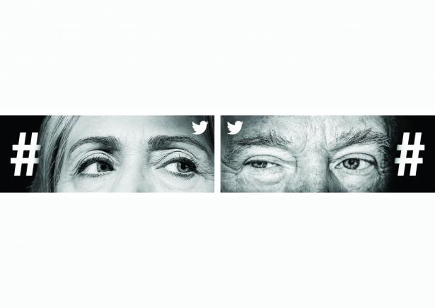 Twitter: Eyes: Hilary Clinton & Donald Trump