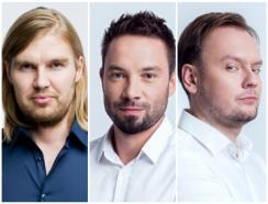 od lewej: Michał Glapiński, Kacper Kłos, Szymon Domżał