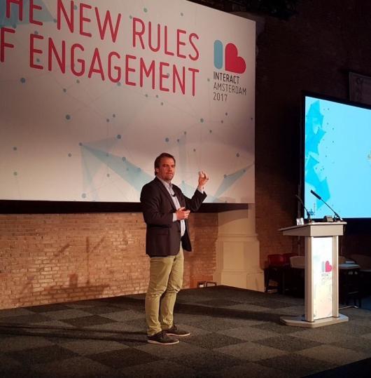 Stephan Noller, założyciel i CEO nugg.ad AG na Interact 2017. Źródło: Twitter