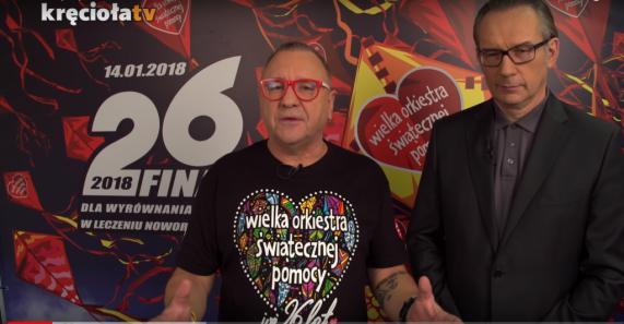 Jerzy Owsiak (WOŚP) i Cezary Stypułkowski (mBank)