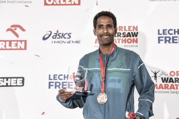 Mistrzem Polski w maratonie został Yared Shegumo
