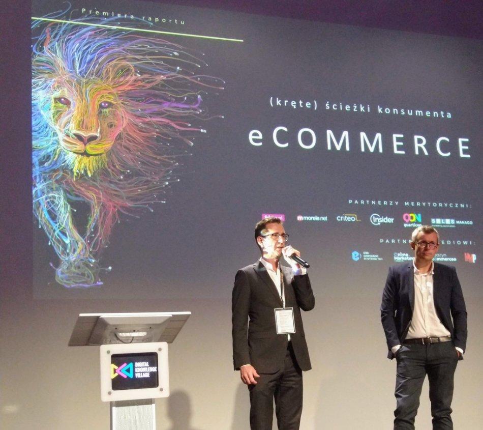 Piotr Pietka, co-CEO i Krzysztof Andrzejczak, Chief Commerce Officer Publicis Groupe Polska podczas wczorajszej prezentacji raportu