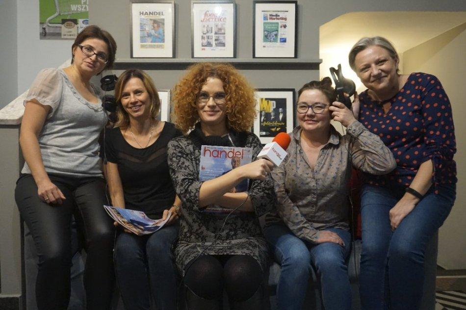 Na zdjęciu od lewej: Katarzyna Pierzchała, Ilona Mrozowska - redaktor naczelna portalu handelextra.pl, Michalina Szczepańska - redaktor naczelna miesięcznika Handel, Magdalena Weiss, Joanna Hamdan